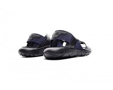 Unisex Ss Y-3 Qasa Elle Stretch Sandal By2571 Schwarz & Tief Blau