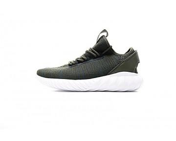 Schuhe Army Grün & Weiß Adidas Tubular Doom Sock Low S74926 Herren