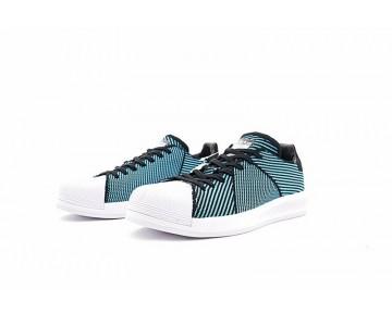 Schuhe Adidas Superstar Bounce Primeknit S77057 Lake Blau & Schwarz & Weiß Unisex