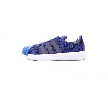 Herren Tief Blau Adidas Superstar Bounce Bz0095 Schuhe
