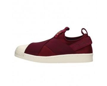 Unisex Adidas Superstar Slip On W S81340 Burgund/ Burgund/ Legink Schuhe