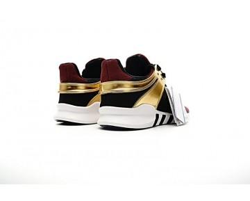 Herren Burgund Rot & Gold Adidas Eqt Support Adv Primeknit 93 Bb1312 Schuhe