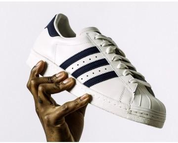 Unisex Weiß & Schwarz Adidas Originals Superstar 80S Deluxe B25963 Schuhe