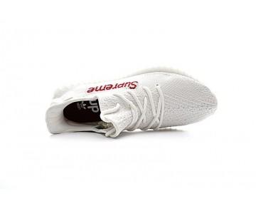 Weiß & Rot Schuhe Unisex Adidas Yeezy 350V2 Boost Supreme