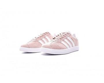 Coral Rosa & Weiß Damen Adidas Originals Gazelle Bb5472 Schuhe