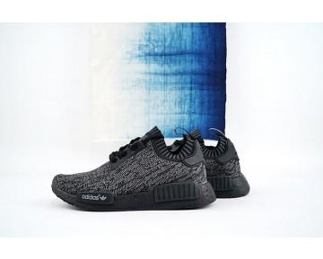 Schuhe Pitch Schwarz Unisex Adidas Originals Nmd_R1 Primeknit S80489