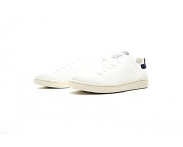 Weiß & Tief Blau Adidas Originals Stan Smith Primeknit S75148 Unisex Schuhe