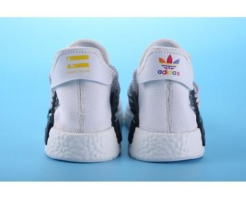 Weiß & Schwarz Schuhe Unisex Pharrell Williams X Adidas Nmd Human Race S79165