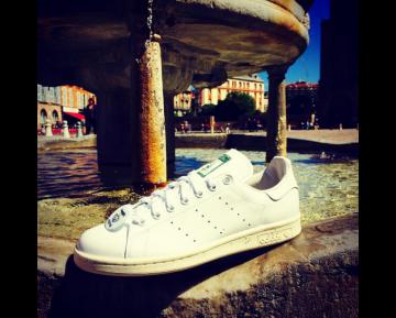 Nigo X Adidas Originals Stan Smith S79591 Schuhe Weiß/Cream Weiß Unisex