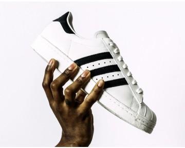 Schuhe Unisex Adidas Originals Superstar 80S Deluxe B35982 Weiß & Rot