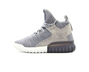 Schuhe Grau & Sky Blau Adidas Originals Tubular X Primeknity Aq4546 Unisex