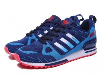 Herren Tief Blau & Rot Schuhe Adidas ZX 750 Flyknit 40-45