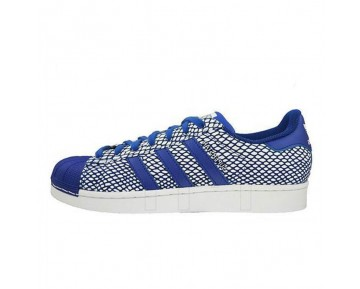 Unisex Farve Bold Blau / Bold Blau / Weiß Adidas Superstar Snake Pack S82729 Schuhe