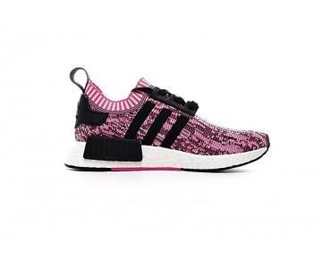 Damen Rose Rosa & Schwarz Schuhe Adidas Nmd R1 Primeknit Bb2363