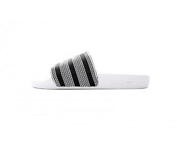 Schuhe Adidas Adilette Made Cozy Primeknit Slides 280648 Weiß & Grau & Schwarz Unisex
