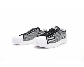 Schwarz & Weiß Adidas Superstar Bounce Primeknit S82241 Schuhe Unisex