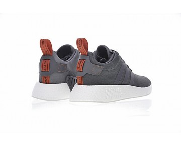 Herren Tief Grau & Orange Schuhe Adidas Nmd Boost R_2 By3014