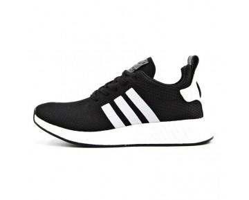 Herren Schwarz & Weiß Schuhe Adidas Originals Nmd R2 Bb2953