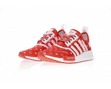 Unisex Rot Schuhe Supreme X L.V X Adidas Nmd R1 Sup Ba7670
