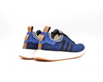 Herren Dunkel Blau Adidas Originals Nmd Primeknit R2 Bb2903 Schuhe