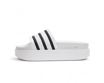Weiß & Schwarz Unisex Adidas Originals W Adilette Bold S75214 Schuhe