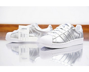 Adidas Superstar Boost Bb2271 Damen Liquid Silber Schuhe