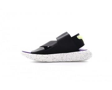 Schwarz/Weiß/Purple Unisex Adidas Y-3 Qasa Sandal Aq5585