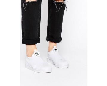 Weiß Unisex Schuhe Adidas Originals Superstar Slip On