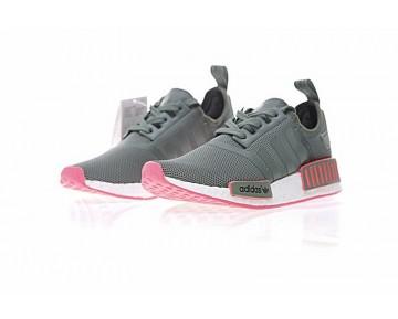Adidas Originals Nmd R1 Boost Ba7280 Amey Grün & Fuchsia Rosa Schuhe Damen