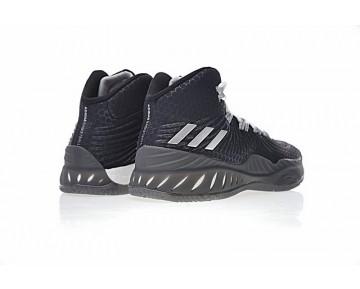 Schuhe Unisex Schwarz & Silber Winter Adidas Crazy Explosive Primeknit Bw0985