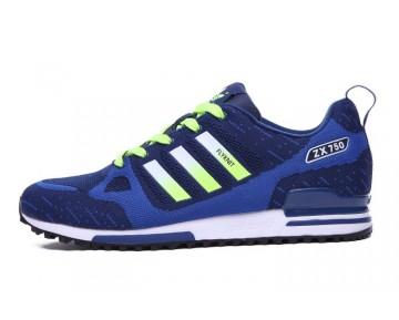 Tief Blau & Fluorescent Grün Herren Adidas ZX 750 Flyknit 40-45 Schuhe