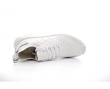 Schuhe Weiß & Rot Adidas Originals Nmd R2 Primeknit Ba7240 Herren