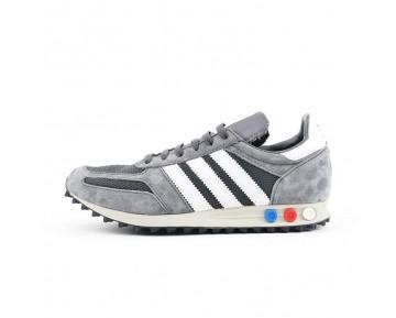 Herren Schuhe Adidas Consortium La Trainer Og Aq4928 Dunkel Grau & Weiß