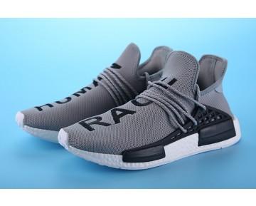 Grau & Schwarz Unisex Schuhe Pharrell Williams X Adidas Nmd Human Race S79164