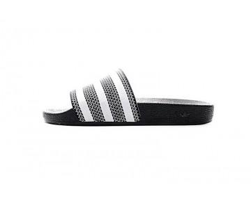 Schwarz & Grau & Weiß Adidas Adilette Made Cozy Primeknit Slides 280647 Unisex Schuhe