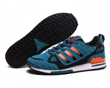 Adidas ZX 750 Flyknit 40-45 Lake Blau & Orange Schuhe Herren