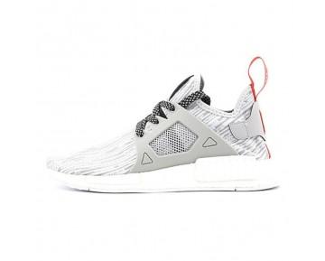Licht Grau & Rot Unisex Schuhe Adidas Originals Nmd Primeknit Xr1 Bb3686