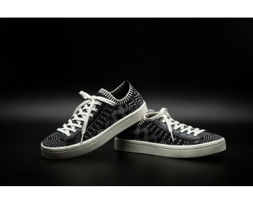 Adidas Courtvantage Primeknit S78885 Schwarz & Rice Weiß Herren Schuhe