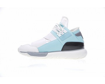 Schuhe Weiß & Blau Unisex Y-3 Qasa High S82122