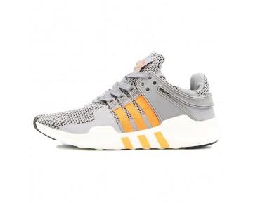 Schuhe Unisex Adidas Eqt Running 93 Primeknit B40935 Schwarz & Grau Orange