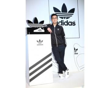 Schwarz & Weiß & Gold Schuhe Adidas Originals Super Star Ii C17724 Unisex