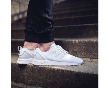 Schuhe Weiß Grau Knit Herren Adidas Zx Flux Racer Asym Zx S80542