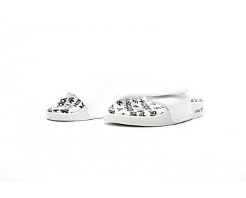 Schuhe Hyke By Adidas Originals Adilette Aoh-008 Logo S79342 Unisex Weiß & Schwarz