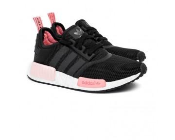 Unisex Schwarz & Rosa Schuhe Adidas Originals Nmd_R1 W S75234