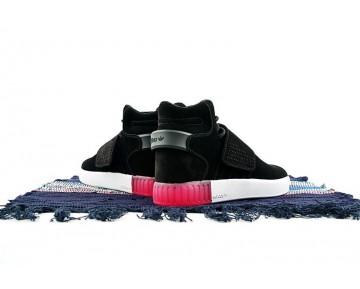 Schwarz & Weiß & Rose Rot Damen Schuhe Adidas Tubular Invader Strap B39365