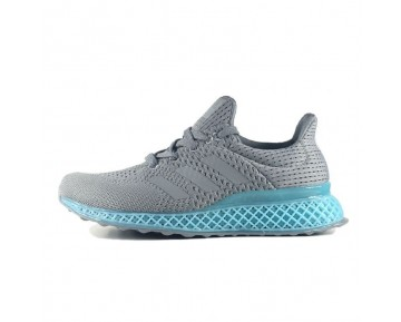 Adidas Futurecraft 3D Printed Sneakers 3D Unisex Grau & Blau Schuhe