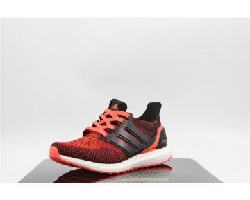 Damen Burgund Rot & Schwarz Adidas Ultra Boost S80373 Schuhe