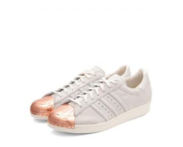 Unisex Chalk Weiß & Rose Rosa Adidas Originals Superstar 80S Metal Toe M25319 Schuhe