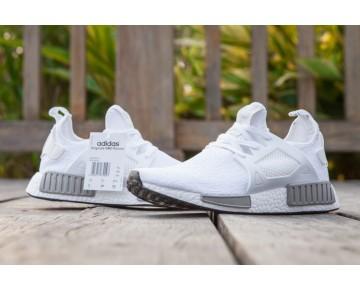 Herren Weiß & Grau Schuhe Adidas Originals Nmd Xr1 S81521
