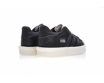 Rick Owens X Adidas Mastodon Pro Model Low Ba9761 Unisex Schuhe Schwarz & Rice Weiß